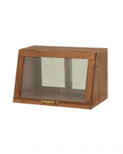 ブラウン●カウンター上ガラスケース 40×25×25cm○MUD-6065