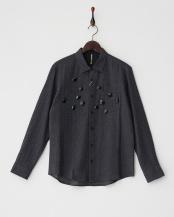 チャコール●ブルジョーシャツ MEN○B1565RFB023
