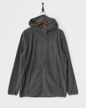 グレー●フーデットフリースジャケット|UNISEX○FRI-FH0114 HOODED_GRY