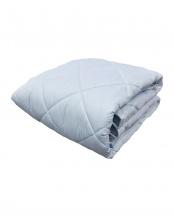 ブルー●合繊敷きパッド ダブル 家庭洗濯可能○627970BO