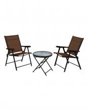 折りたたみ式 テーブル/チェア2脚 セット○LGS-4682S