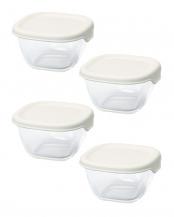 オフホワイト 耐熱ミニ角小鉢4個セット