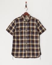 NAVY●チェックワークシャツ○40099