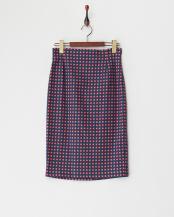 navy blue pattern●ILENIA セミタイトスカート○9101026003
