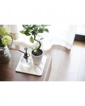 ホワイト●珪藻土マルチトライアングルパッド 2枚組○02-32070