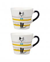 しま猫 HAPPY CATマグ 2個セット