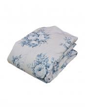 ブルー●ホワイトダウン70%使用 ロサ 洗える羽毛肌掛け布団 シングル○62703