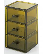 オリーブ ファセタ 3段ボックス