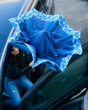 ブルー×フラワー 2重傘 circus(サーカス) 晴雨兼用