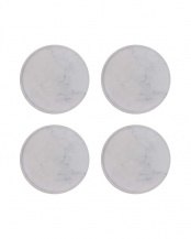 珪藻土コースター Plus Marble サークル型 4枚セット○02-43014*4