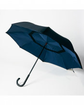 ネイビー(NVBK) 2重傘 circus(サーカス) 晴雨兼用