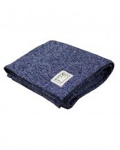 ネイビー●not flat textile メランジ調フリースケット シングル○2020-00246