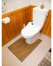 ダークウッド●木目調トイレ用マット 60×90cm○35-12746