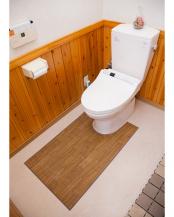ダークウッド●木目調トイレ用マット 60×100cm○35-12753