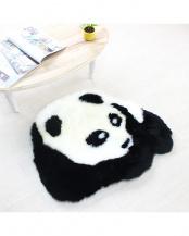ホワイト×ブラック パンダ ミニラグ
