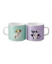 猫天使と猫デビル ペアマグカップ○26-ZCB-37471