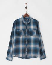 ネイビー●オンブレーチェックネルシャツ L/S○9999171210525