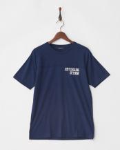 ネイビー●ジャガード切替Tシャツ S/S○9999171210491