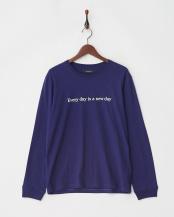 パープル●ROSE Tシャツ L/S○9999171210519