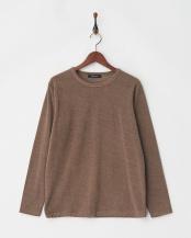 ブラウン●マーブルパイルTシャツ L/S○9999171210547