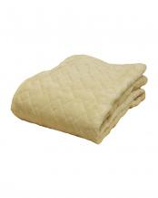 ベージュ●あったか吸湿発熱中わた使用 フランネル敷きパッド 中綿増量タイプ ダブル○630739BO