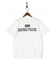 ホワイト●CYA/TS DO WHAT YOU LIKE190g/㎡ 天竺 シーヤT○CYA18U0003
