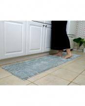 グレー●洗えるふかふかキッチンマット『シェール』 55×180cm○4549781198606