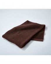 ブラウン●世界3大コットン「ギザ綿」使用 フェイスタオル 4枚セット○EF-TW06BRx4