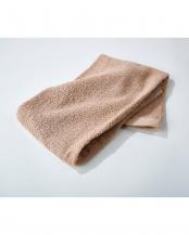 ベージュ●細番手高級糸「コーマ綿」 フェイスタオル 4枚セット○EF-TW09BEx4