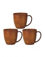 ライトブラウン マグカップ 3個セット