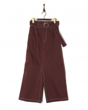 BGD●VENTILE CONTRASTED STITCH TROUSERS○GV1811071