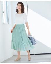 ミントグリーン●ランダムプリーツスカート○BTXN0124
