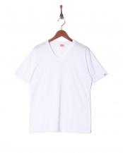 ホワイト●カジュアルTシャツ Vネック○GR474HS