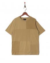 BEIGE●30//-MVS505 パッチワークTシャツ○5255328