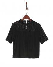 ブラック●レースブラウス○F05-9003