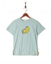 ブルーグレー●プリント半袖Tシャツ(大人)○819102