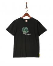 ブラック●プリント半袖Tシャツ(大人)○819104