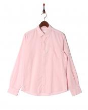 ピンク●フレンチリネンシャツ LS○9999181210019