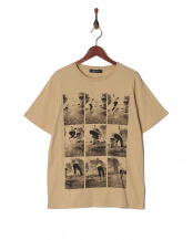 ベージュ●スケートフォトTシャツ SS○9999181210157