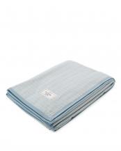ブルー●日本製シールガーゼ綿毛布○NR1402