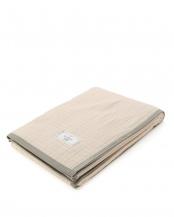 ベージュ●日本製シールガーゼ綿毛布○NR1402