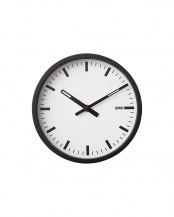 WH/BK●BLACK WOOD FRAME CLOCK [S]○003069