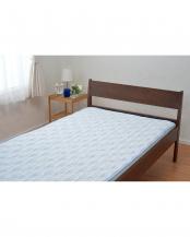 ブルー●ひんやり敷きパッド 100×205cm○5MP-C7003S