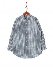 グリーン系●ワイシャツ 長袖 標準体 襟型ボットーニボタンダウン○BM016503AA13V3A
