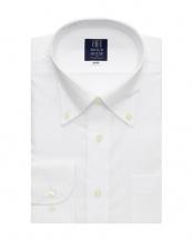 ホワイト系●長袖 ワイシャツ 形態安定 ボタンダウン 白無地 オックス調○BM01X905AB12B0A