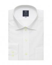 ホワイト系●長袖 ワイシャツ 形態安定 ワイド 白無地 ブロード 吸汗防汚加工○BM01X906AB12W0A