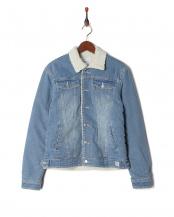 sax●boa denim jacket○AZO-808