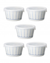 縞十草紋 ノンラップ鉢(小) 5点セット○11757
