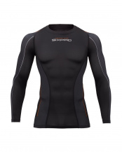 ブラック●シックスパッド トレーニングスーツ ロングスリーブトップ (男性/胸用)[メーカー純正品]○SP-TL2312F-M