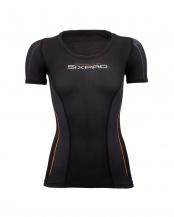 ブラック●シックスパッド トレーニングスーツ ショートスリーブトップ (女性/胸用)[メーカー純正品]○SP-TS2313F-W